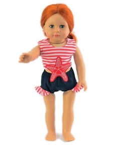 Nautical-Starfish-Swimsuit-18-in-Doll-Clothes-fits-American-Girl-dolls