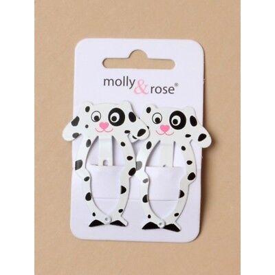 2 X Dalmatiner Hunde Haarspange Haarspangen 5.5cm On A Card Mädchen/damen