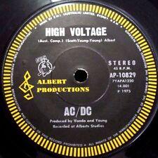 AC/DC - HIGH VOLTAGE//SOUL STRIPPER  - 1975 AUSSIE 7'' - BLACK ALBERT, ROO LABEL
