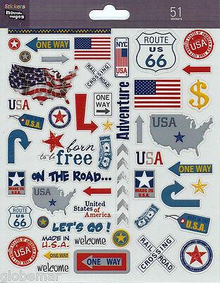 Stickers Etats Unis New York Planche 20 Cm X 15,5 Cm Pour Ordinateurs Portables