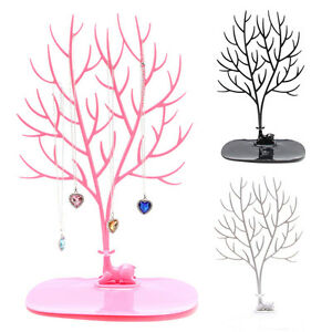 Jewelry-Necklace-Ring-Earring-Tree-Deer-Stand-Display-Organizer-Holder-Show-Rack