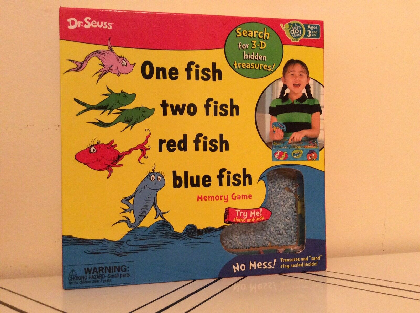 Dr.  Seuss Preschool One Fish, Two Fish, rouge Fish, bleu Fish Jeu de Mémoire 3+ Ans  acheter en ligne