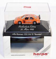 "Herpa 036368, Alfa Romeo 155 V6 TI ""Bartels"",1:87, im Originalkarton #ab1513"