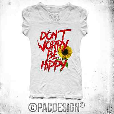 T-SHIRT UOMO DONNA  DON/'T WORRY BE HAPPY  GEN0431