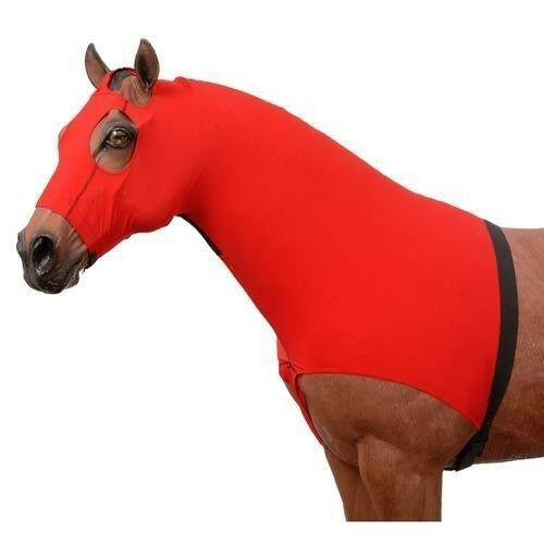 Tough-1 Spandex Mane Stay Hood with Elastic Belly Wrap and Zipper