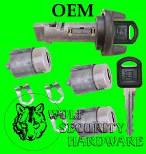 NEW CHEVY GMC OEM 95-97 3 Door Key Lock Cylinder Set W// 2 Keys To Match 702674