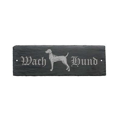Kenntnisreich Wetterfestes Schild « Wachhund Magyar Vizsla » Hund 22 X 8 Cm SchöN In Farbe