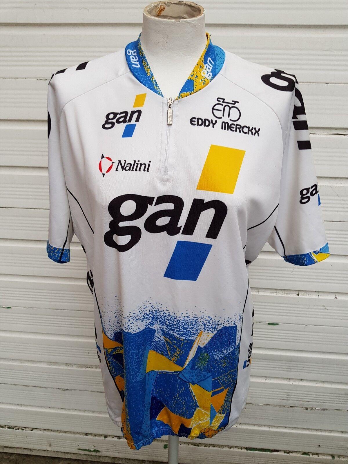 Cycling shirt shirt shirt GAN Eddy Merckx Nalini vintage cycling jersey - 6/XXL Vélo Cycle 71b71d