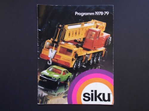 Siku commercianti catalogo di 1978//79 commercianti programma catalogo in DIN a4 prospetto