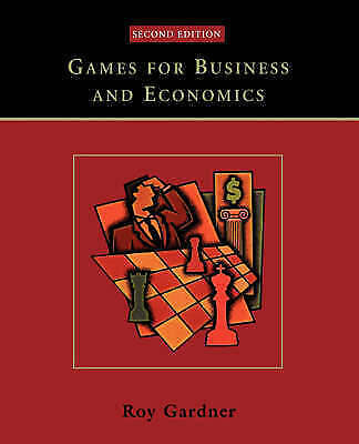 Games for Business and Economics by Roy Gardner (Paperback, 2003)