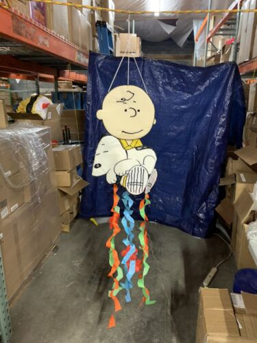 Peanuts Charlie Brown Holding A Sleeping Snoopy Spring Windsock Decoration-40653