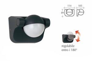 Applique a led per esterno flusso luce regolabile 6w luce fredda