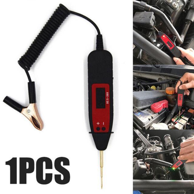 1 Pcs Car LCD Digital Electric Voltage Test Pen Probe Detector Tester LED Lights