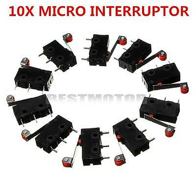 10Pc AC 5A 125V-250V Roller Lever PCB Terminals Micro Limit Normal Switch KW12-3