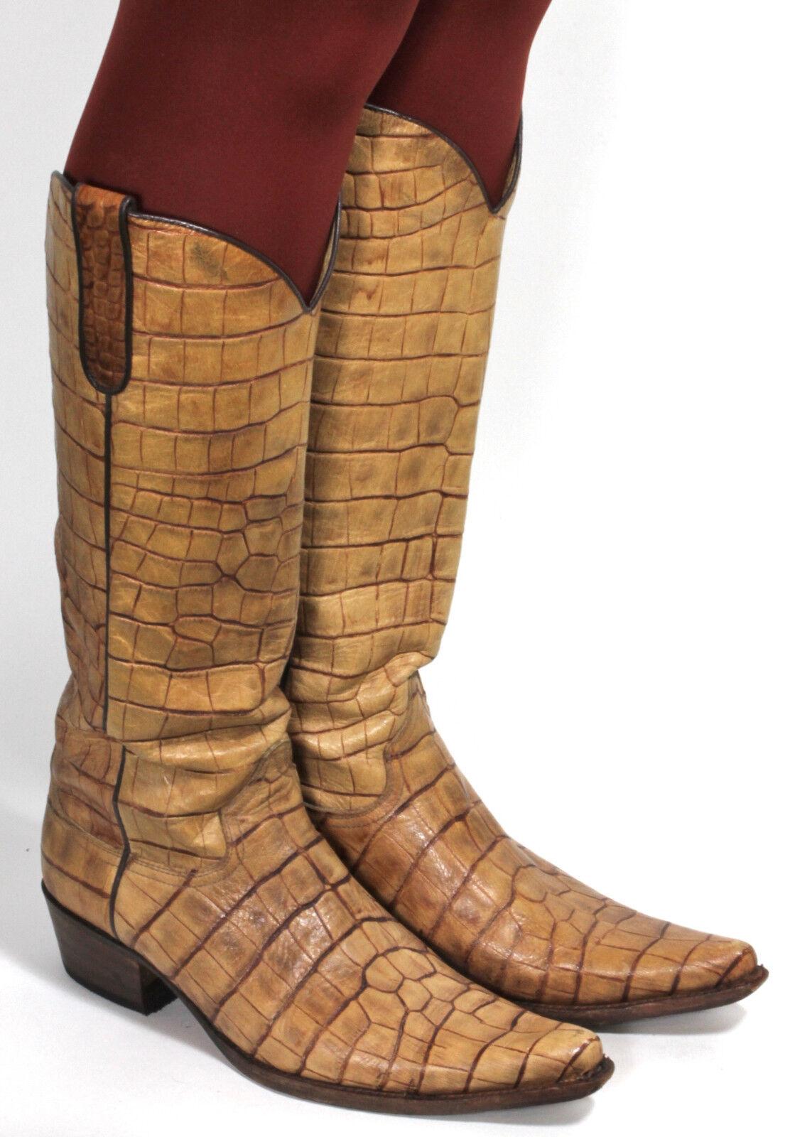 Stivali Western Cowboy Stivali Catalan Style line dance Texas Stivali Sendra 39