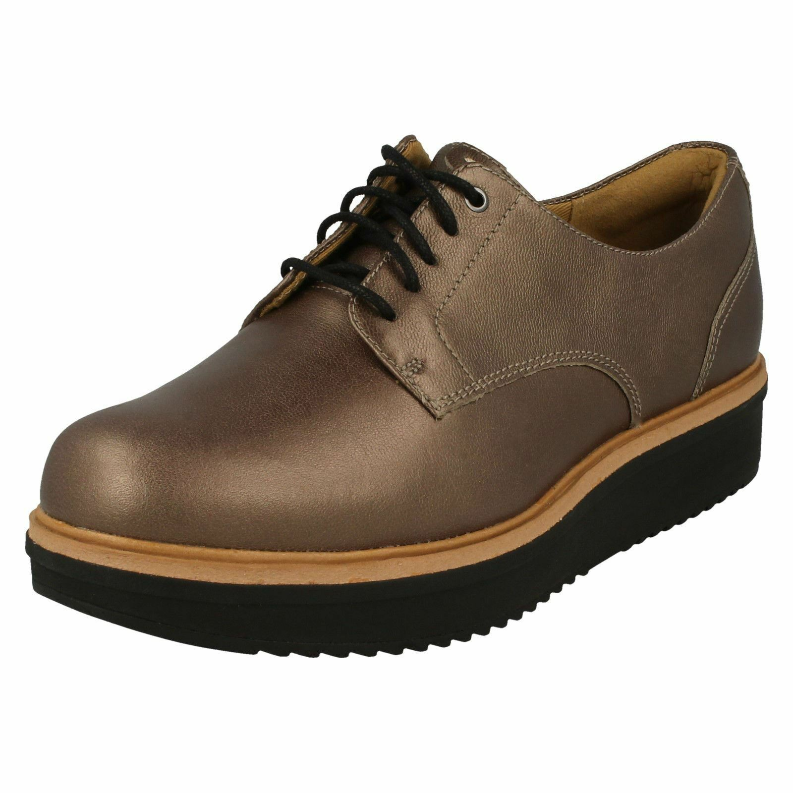 Clarks Ladies Brogue Brogue Brogue Style shoes Teadale Rhea d4b34f