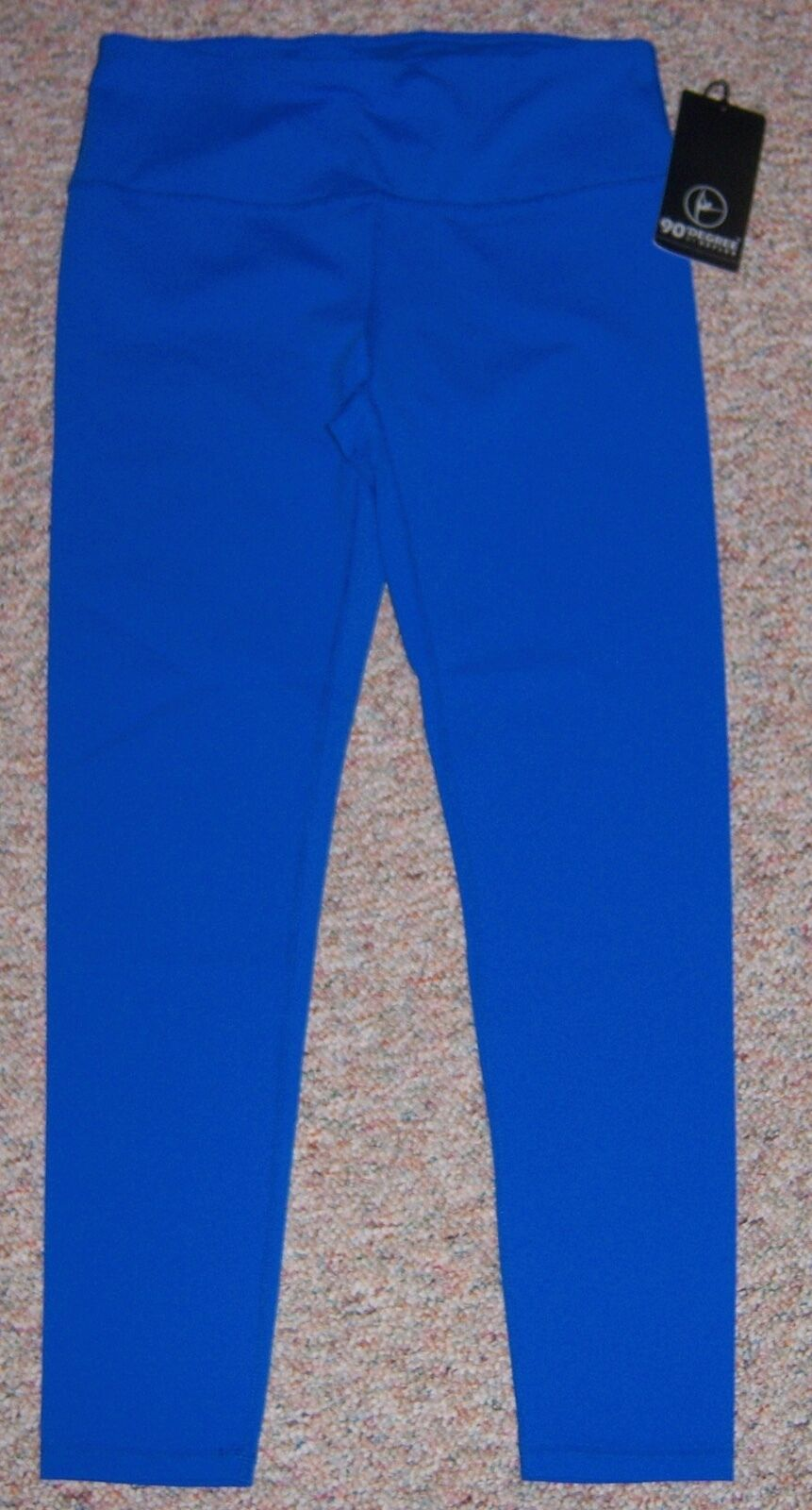 90 DEGREE By REFLEX bluee Athletic Compression Leggings Pants Size X-Large NWT
