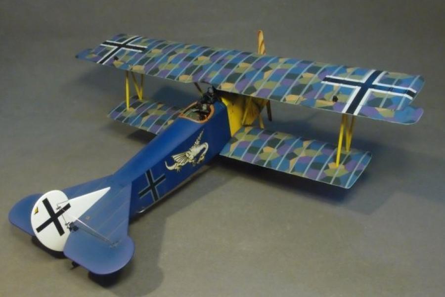 JOHN JOHN JOHN JENKINS WW1 KNIGHTS OF THE SKY ACE-39 WW1 GERMAN FOKKER D.VII FIGHTER MIB 71ee60