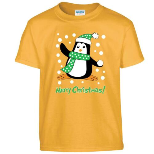 Santa Reindeer Penguin Pub Knit Youth Xmas Festive Merry Chirtsmass Kids Tshirt