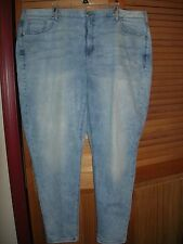 Lane Bryant 26 Mid Rise Genius Fit Skinny Marble Jeans 26W Distressed