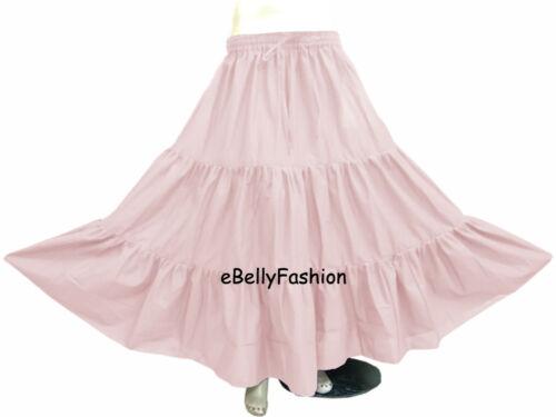 Skirt Maxi  6 Yard 3 Tiered Cotton Belly Dance Gypsy Flamenco Tribal Jupe Boho