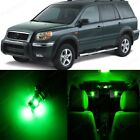 18 x Super Green LED Lights Interior Package Kit For Honda PILOT 2006 - 2008