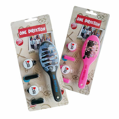 ONE DIRECTION 1D OFFICIAL HAIR BRUSH & ACCESSORIES -X1 SET SUPPLIED CHOICE COLOR