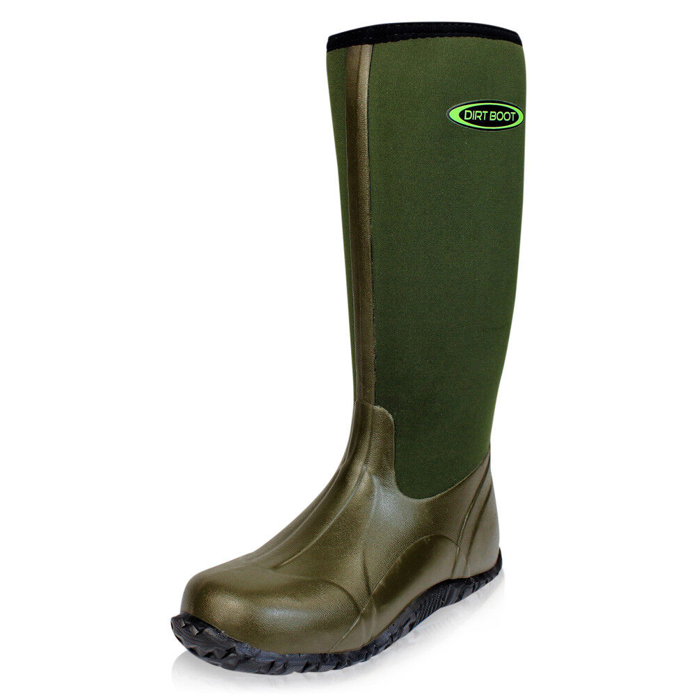 Dirt Boot   Neoprene Wellington Muck campo  Boot Stivali Unisex Uomo  Da Donna Verde d66cbf