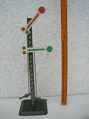 Ehrlich Eisenbahn Signalmast 2-flüglich Blechausführung Lackiert Nicht Gemarkt Höhe 25cm