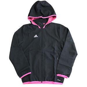 Adidas Sport Performance F50 Woven Kids Full Zip Up Jacket Top Black ... 891cf11dbc6
