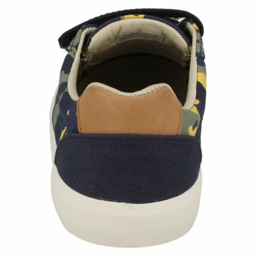 BOYS JUNIOR CLARKS COMIC TRICK HOOK /& LOOP CASUAL CANVAS SHOES SUMMER PUMPS SIZE