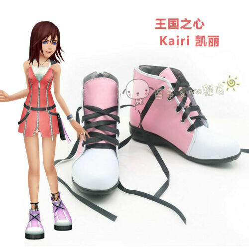 Details about  /Anime Kingdom Hearts 2 Kairi Pink Dress Cosplay Shoes Boots