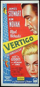 VERTIGO-Rare-Original-Daybill-Movie-Poster-Alfred-Hitchcock-James-Stewart