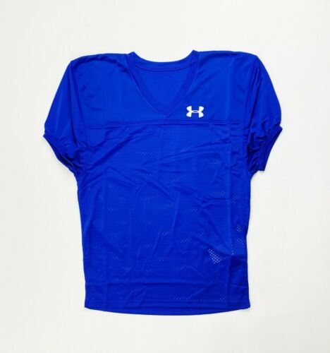 Under Armour Stock Pipeline Mesh Practice Football Jersey Men/'s S M L Blue