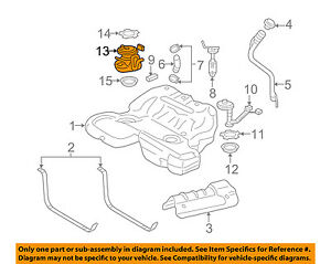 [SCHEMATICS_4HG]  Cadillac GM OEM 05-11 STS-Fuel Pump 19181824 | eBay | Cadillac Fuel Pump Diagram |  | eBay
