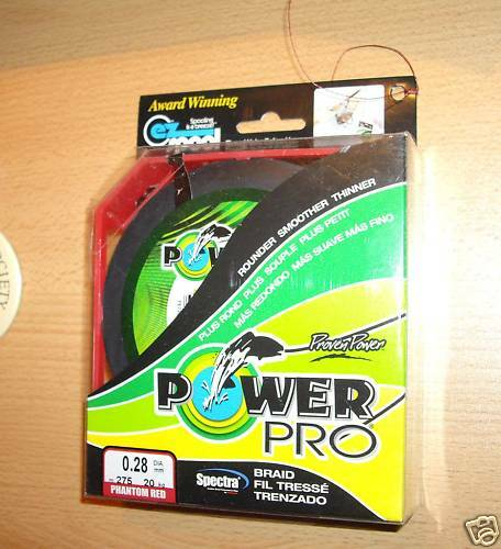 POWERPRO fishing braid - 500yd 20lb RED  POWER PRO
