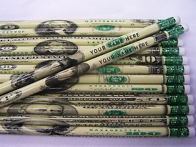 "12  /""DA MONEY/"" Personalized Pencils"