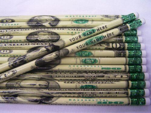 """12  /""""DA MONEY/"""" Personalized Pencils"""