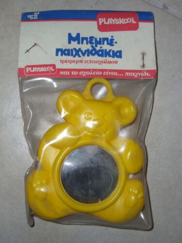 VINTAGE 80'S PLAYSKOOL BABY BEAR MIRROR TOY EL GRECO GR
