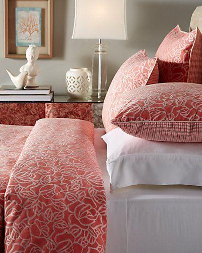 NEW FRETTE  Edmond Nirvana  Watermelon Ivory SET 2 KING STANDARD Pillow Case s