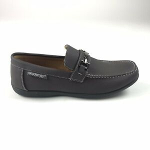 Akademiks-Mens-Size-9-5-Peter-06-Brown-Driving-Loafers-Casual-Slip-On-Shoes