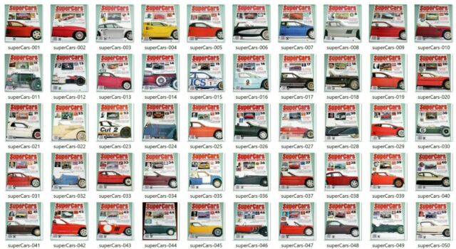 THE ENCYCLOPEDIA OF SUPERCARS - Orbis Publications - technical cutaway + poster