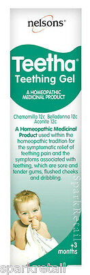 Nelsons TEETHA Homeopathic Baby TEETHING GEL For Babies of +3 Months 15g