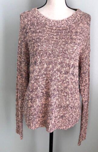 Susina Large Marled Chunky Kit Long Sleeve Sweater