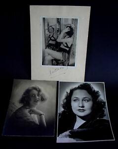 3-orig-Fotos-REVUE-Girls-Schauspielerinnen-Roaring-20ies-Widmung