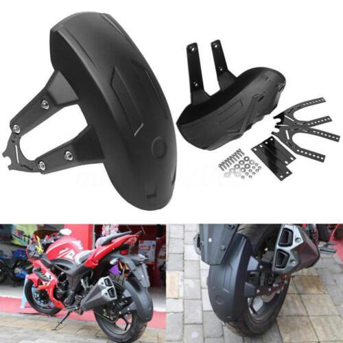 Universal Motorcycle Rear Wheel Cover Fender Splash Guard Mudguard+Bracket Black