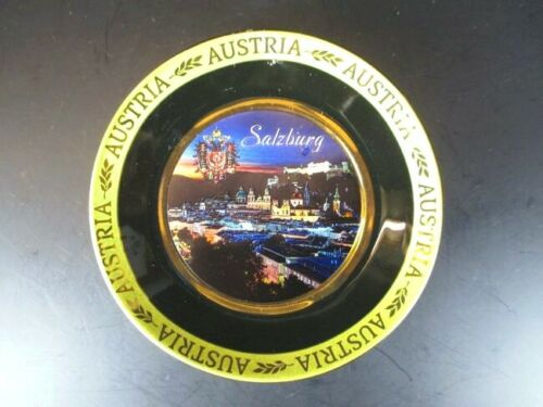 Salzburg Teller gold platiert 11,5cm,Souvenir Austria Österreich,Neu