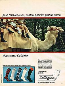 PUBLICITE-ADVERTISING-044-1966-COLLEGIEN-chausettes-collants-enfants