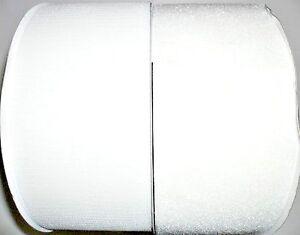 """1 METRE HOOK /& LOOP FASTENER SET HQG FREE P/&P WHITE SEW ON 4/""""//100MM"""