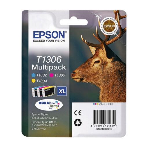 Echt Epson Hirsch Serie Extra Hohe Kapazität Tintenpatrone 3 Farbenpack T1306